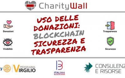 Giovedì 5 Dicembre CharityWall: Uso delle donazioni blockchain sicurezza e trasparenza